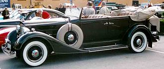 1934 Eleventh Series Eight model 1101 convertible sedan Packard 1101 Eight Convertible Sedan 1934.jpg
