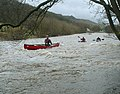 Paddling the Swale below Swaleview caravan site - geograph.org.uk - 1555319.jpg