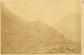 Pagoda on a Rocky Hill near Walled Town of Lueyang Xian. Shaanxi Province, China, 1875 WDL2086.png