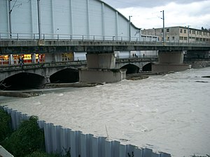Paillon - The Paillon near the Palais des Congrès Acropolis, during a flood