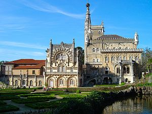 Buçaco Palace - General view of the Palace Hotel do Buçaco.