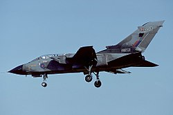 A Panavia Tornado GR1 of the Tri-National Tornado Training Establishment (TTTE).