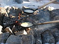 Pancakes outdoors Finland in winter.jpg