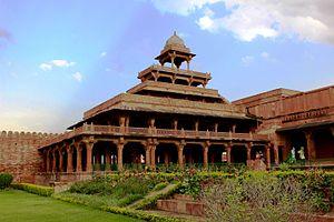 Panch Mahal, Fatehpur Sikri - Fatehpur Sikri: Panch Mahal