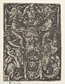 Panel with Grotesque Candelabrum Containing a Mask, a Couple of Tritons and Two Children MET DP836775.jpg