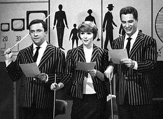 Canzonissima - Paolo Panelli, Delia Scala and Nino Manfredi hosting Canzonissima (1959)