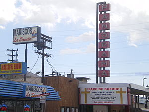Panorama City, Los Angeles - Former Panorama theater converted for church services, 2008
