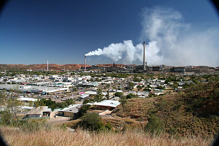 The town of Mount Isa is surrounded by vast mineral deposits. Panorama of Mount Isa, Queensland.jpg