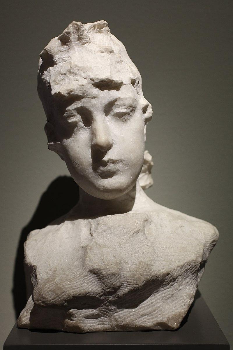 Paolo Troubetzkoy (1866-1938) Busto di giovane donna - ritratto di Emilia Cairati Vogt (1897).jpg