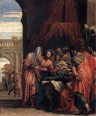 Raising of Jairus' daughter - Raising of Jairus' Daughter by Paolo Veronese, 1546
