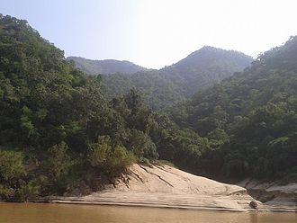Papikonda National Park - A view of Papikonda Wildlife Sanctuary from river Godavari in Andhra Pradesh