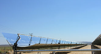 Energy transition - Parabolic trough power station for electricity production, near the town of Kramer Junction in California's San Joaquin Valley
