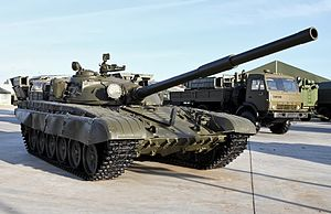 T-72 operators and variants - The original configuration of the T-72 (Ob'yekt 172M). Notable is the square-shaped coincidence range finder housing cast into the turret roof.