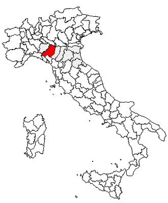 Le Roncole - Location of the province of Parma