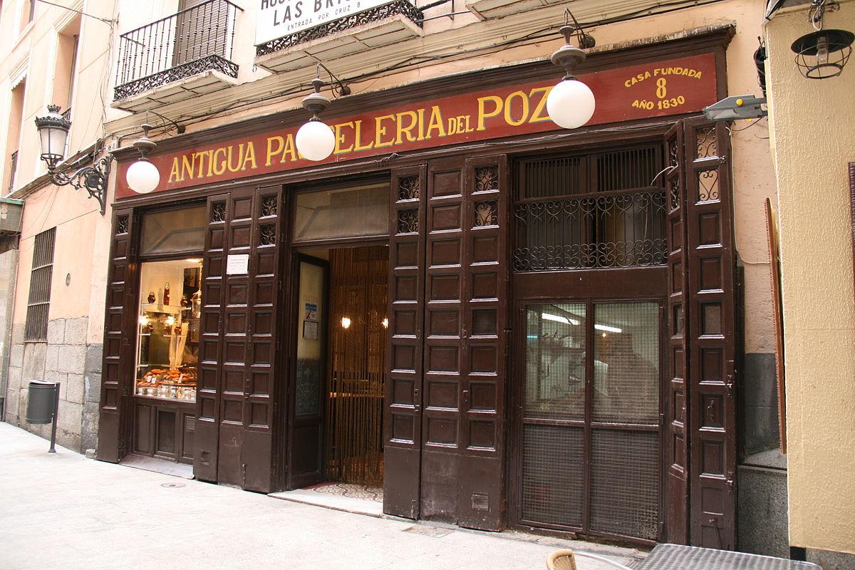 antigua pasteleria del pozo em madrid
