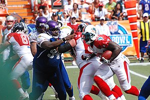 Defensive tackle - Defensive tackle Pat Williams (in blue)