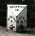 Pateley Bridge Milepost - geograph.org.uk - 1232549.jpg
