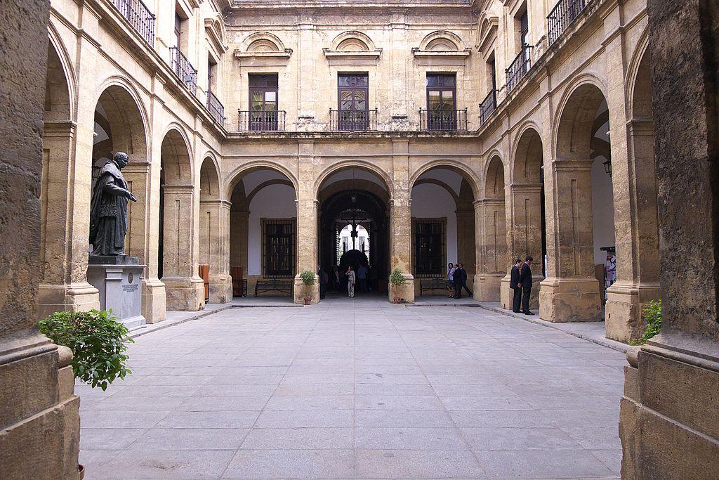 Patio de la manufacture de tabac de Séville - Photo de José Luis Filpo Cabana