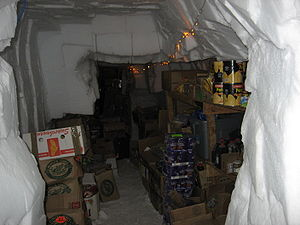 Patriot Hills Base Camp - Storage tunnels beneath the camp