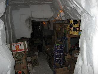 Patriot Hills Base Camp - Storage tunnels beneath the camp
