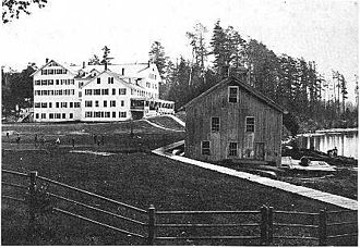 Brighton, Franklin County, New York - Paul Smith's Hotel, circa 1892