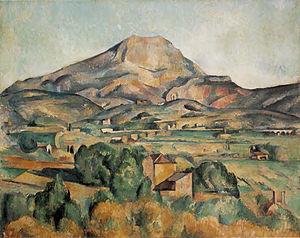 Mont Sainte-Victoire seen from Bellevue - Image: Paul Cezanne La Montagne Saint Victoire Barnes