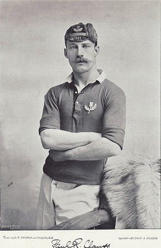 Paul Clauss - Clauss posing in Scotland jersey
