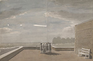 1783 in science - The Meteor of August 18, 1783, as seen from the East Angle of the North Terrace, Windsor Castle, watercolour by Paul Sandby