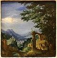 Paul bril (cerchia), paesaggio, 1610 ca., dalla coll. bernasconi, vr.jpg