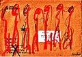 Pedro Meier Mail Art. Briefumschlag mit Figuren. Adressiert an Pedro Meier, Sala Daeng Road, Bangkok Thailand. 1992. Photo © Pedro Meier.jpg