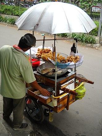 Fritter - Image: Penjual Gorengan