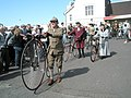 "Penny farthing about to join the ""Petersfield Station 150"" parade - geograph.org.uk - 1249854.jpg"