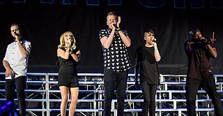Pentatonix American a cappella group from Arlington, Texas