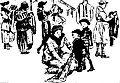 People looking over goods in a second-hand shop as sketched by Marguerite Martyn in 1920.jpg