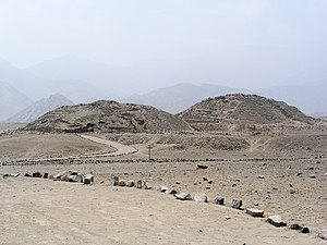 Andean civilizations - The Caral pyramids in the arid Supe Valley, some 20 km from the Pacific coast.