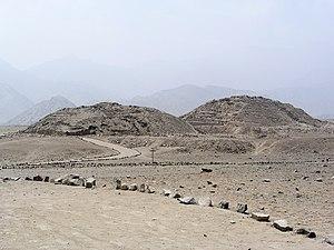 Ruinas de la ciudadela de Caral.