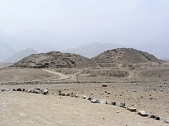 Caral - The Caral temples in the arid Supe Valley, some 20 km from the Pacific coast.