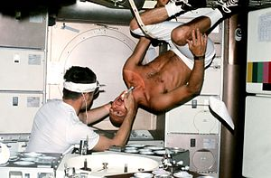 "Joseph P. Kerwin - Kerwin administers dental exam to Skylab 2 Commander Charles ""Pete"" Conrad"