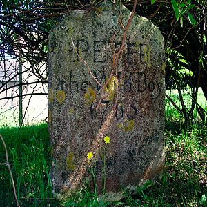 Peter the Wild Boy - Gravestone of Peter the Wild Boy at St Mary's Church, Northchurch, Hertfordshire.