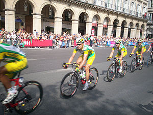 Phonak (cycling team) - Team Phonak in Paris in the final stage of the 2006 Tour de France.