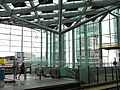 Photo of new transparent roof and glass walls of Central station, The Hague; high resolution image by FotoDutch, June 2013.jpg
