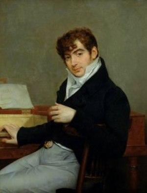 Pierre-Joseph-Guillaume Zimmerman - Pierre Zimmerman, portrait by Antoine-Jean Gros, ca. 1815.