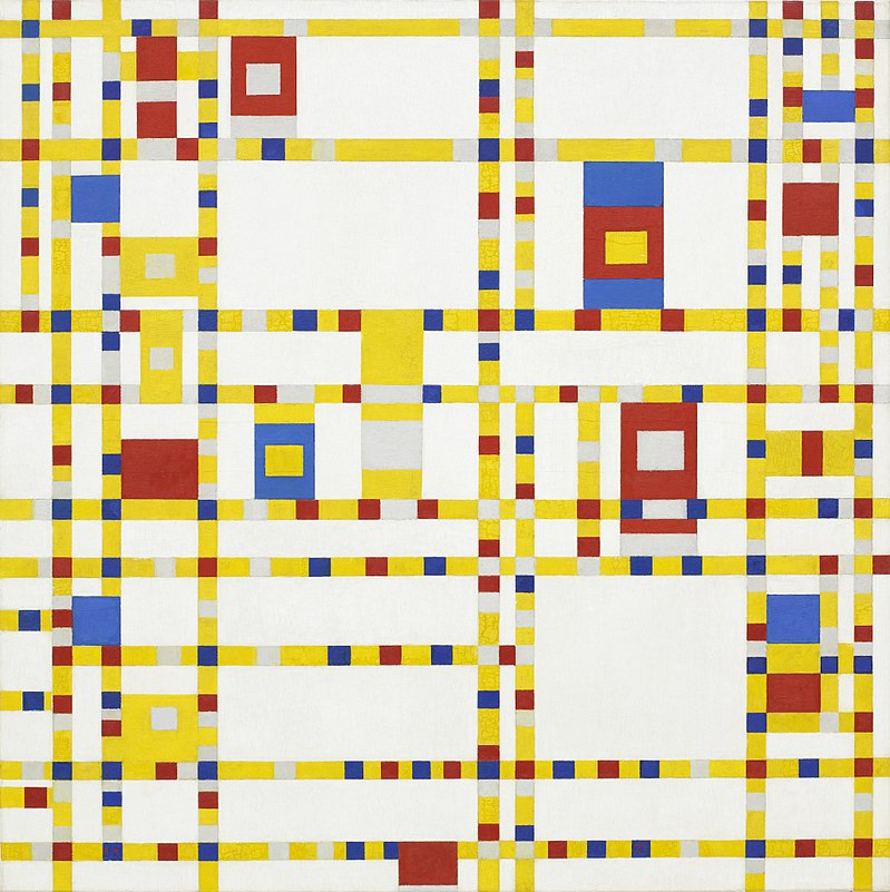 https://it.wikipedia.org/wiki/Broadway_Boogie_Woogie#/media/File:Piet_Mondrian,_1942_-_Broadway_Boogie_Woogie.jpg