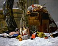 Pieter Boel - A Still Life with dead Game and Songbirds in the Snow.jpg