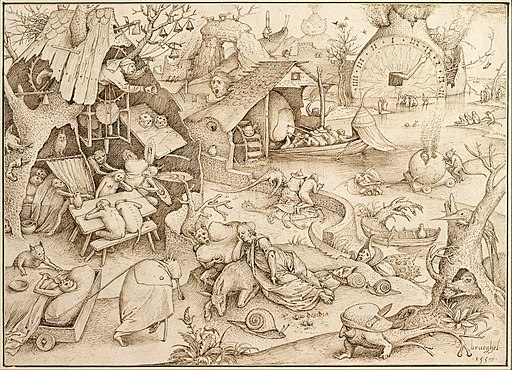 Pieter Bruegel the Elder - Desidia (Sloth), 1557 - Google Art Project