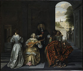Musical company in a distinguished interior