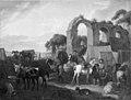 Pieter van Bloemen - En hest bliver skoet i en soldaterlejr - KMSsp316 - Statens Museum for Kunst.jpg