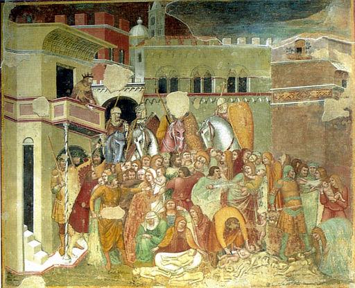 Pietro Lorenzetti, Francesco e Niccolò di Segna, 1330-1340 circa, affresco, Basilica dei Servi, Siena