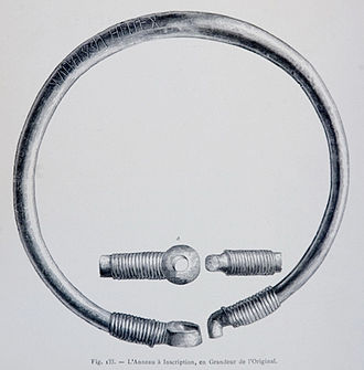 Ring of Pietroassa - The ring of Pietroassa (drawing by Henri Trenk, 1875).