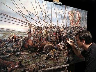 Augusto Ferrer-Dalmau - Ferrer Dalmau painting Rocroi, el último tercio (English: Rocroi, the last tercio).